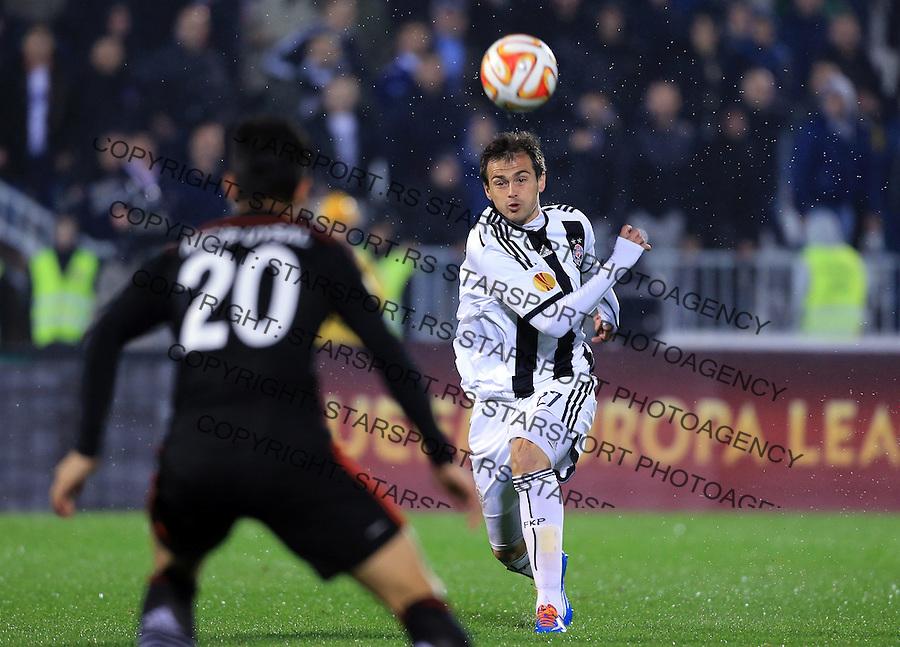 Fudbal Football Soocer<br /> UEFA Europe League <br /> Partizan v Besiktas<br /> Danko Lazovic (R)<br /> Beograd, 23.09.2014.<br /> foto: Srdjan Stevanovic/Starsportphoto&copy;