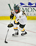 9 October 2009: University of Vermont Catamount defender Shannon Bellefeuille, a Freshman from Kanata, Ontario, in third period action against the Union Dutchwomen at Gutterson Fieldhouse in Burlington, Vermont. The Catamounts shut out the visiting Dutchwomen 2-0 to start off the Cats' 2009 season. Mandatory Credit: Ed Wolfstein Photo