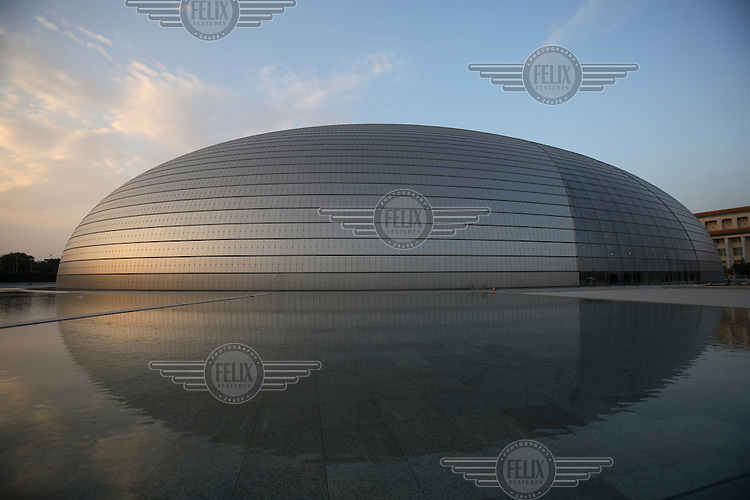 Beijing's controversial 300 million USD National Grand Theatre and opera house, also known as 'The Egg'..