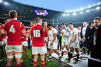 The England team leave the field after the match. RBS Six Nations match between England and Wales on March 12, 2016 at Twickenham Stadium in London, England. Photo by: Patrick Khachfe / Onside Images
