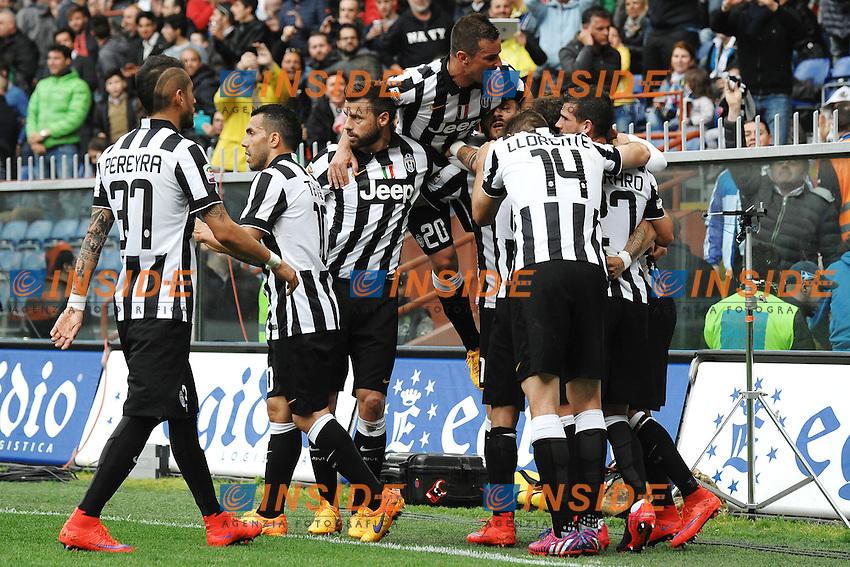 Esultanza Gol Arturo Vidal Juventus 0-1 Goal celebration <br /> Genova 02-05-2015 Stadio Ferraris, Football Calcio Serie A 2014/2015 Sampdoria - Juventus Foto Andrea Staccioli / Insidefoto