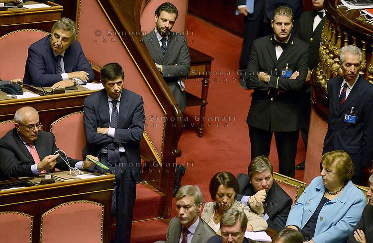 Roma, 2 Ottobre 2013<br /> Senato <br /> Maurizio Lupi durante l'intervento del Primo  Ministro Enrico Letta