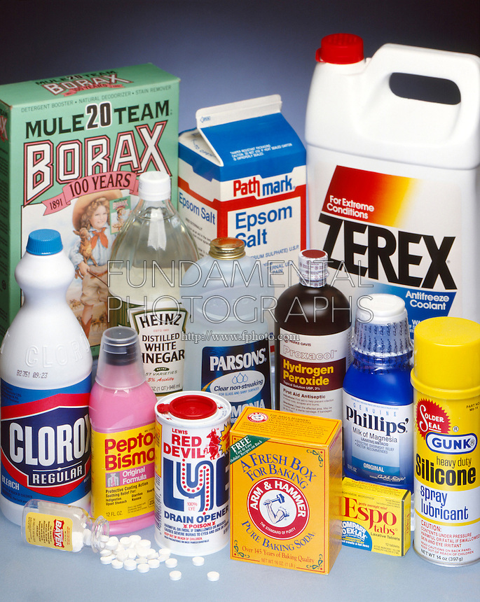 Products with simple chemical compositions many common products