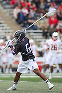 College Park, MD - February 18, 2017: Terrell Sands (6) scores a goal during game between High Point and Maryland at  Capital One Field at Maryland Stadium in College Park, MD.  (Photo by Elliott Brown/Media Images International)