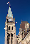 The Peace Tower of the Parliament Building. Ottawa, Ontario, Canada.
