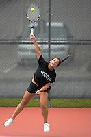SAN ANTONIO, TX - APIL 23, 2007: The University of Texas at Arlington Mavericks vs. the Southeastern Louisiana University Lions at the Southland Conference Women's Tennis Championships at the UTSA Tennis Center. (Photo by Jeff Huehn)