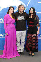 VENICE, ITALY - SEPTEMBER 09: Sloboda Micalovic, Emir Kusturica &amp; Monica Bellucci attends a photocall for 'On The Milky Road' during the 73rd Venice Film Festival at Palazzo del Casino on September 9, 2016 in Venice, Italy. <br /> CAP/GOL<br /> &copy;GOL/Capital Pictures /MediaPunch ***NORTH AND SOUTH AMERICAS ONLY***