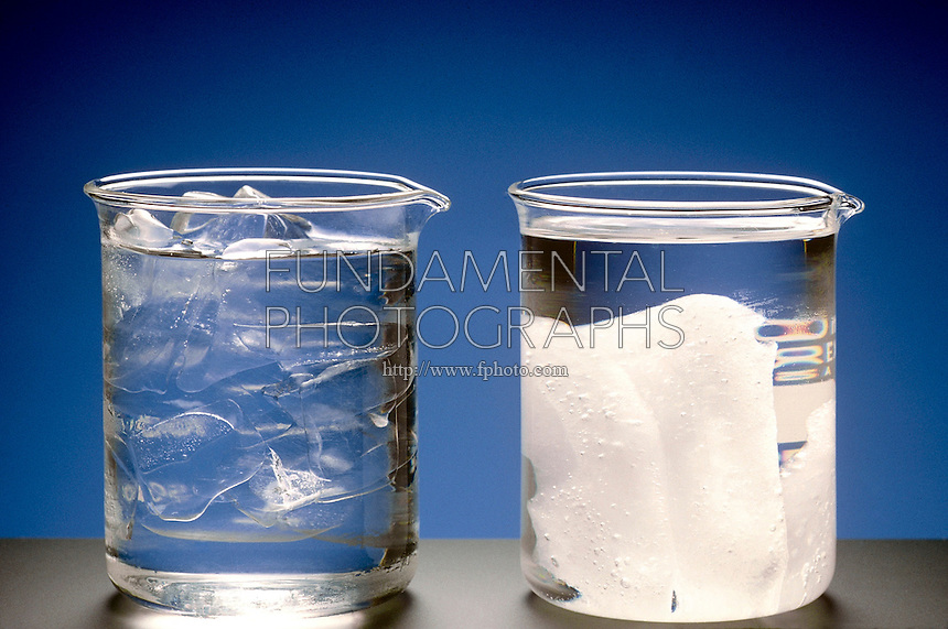 ICE AND BENZENE IN BEAKERS<br />