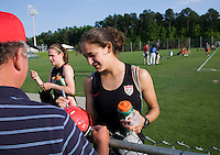 Stephanie Cox, Fans. The USWNT practice at WakeMed Soccer Park in preparation for their game with Japan.