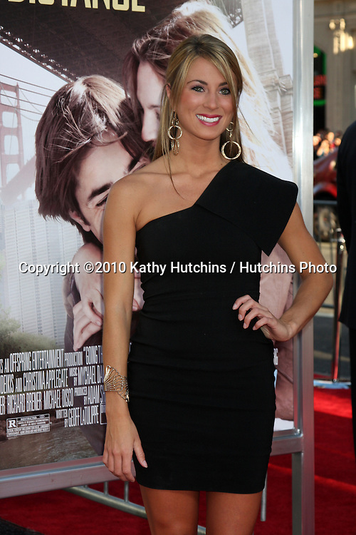 """LOS ANGELES - AUG 23:  Tenley Molzahn arrives at the """"Going the Distance"""" Los Angeles Premiere at Grauman's Chinese Theater on August 23, 2010 in Los Angeles, CA"""