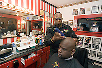 Memphis, Tennessee, February 2009. Michael's Barber shop, next to Stax Records Museum.  The city of Memphis is the place where Blues and Soul Music grew famous. Photo by Frits Meyst/Adventure4ever.com
