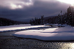 WY: Wyoming Yellowstone National Park, Lewis River in winter               .Photo Copyright Lee Foster, lee@fostertravel.com, www.fostertravel.com, (510) 549-2202.Image: wyyell210