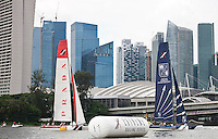 Extreme Sailing Series 2011. Act 9. Singapore.Credit: Lloyd Images.