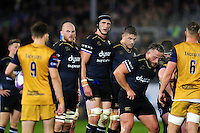 Luke Charteris of Bath Rugby looks on at a scrum. European Rugby Challenge Cup match, between Bath Rugby and Bristol Rugby on October 20, 2016 at the Recreation Ground in Bath, England. Photo by: Patrick Khachfe / Onside Images