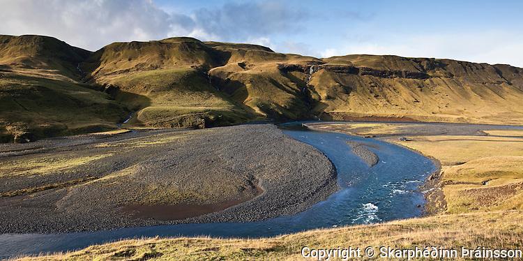 Geirlandsá in Vestur Skaftafellssýsla, south Iceland