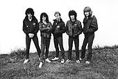 TRUST - L-R: Moho Schemlek, Nono Krief, Bernie Bonvoisin, Yves Brusco, Kevin Morris - Orleans France - 15 Oct 1980.  Photo credit: Philippe Hamon/Dalle/IconicPix