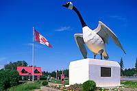 Giant Canada Goose (Branta canadensis) Sculpture at Wawa Visitor Information Centre, Wawa, Ontario, Canada