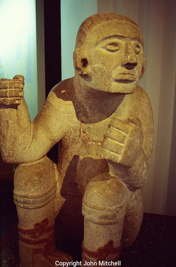 Mayan sculpture in  the Museo Regional de Antropologia, Merida, Yucatan, Mexico