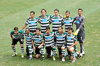 Sporting Clube de Portugal starting eleven. Tottenham Hotspur F. C. and Sporting Clube de Portugal played to a 2-2 tie during a Barclays New York Challenge match at Red Bull Arena in Harrison, NJ, on July 25, 2010.