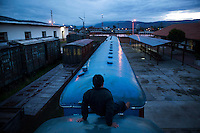 The train departs from Chilca Station in Huancayo at 6:30 a.m. though workers arrive much earlier to inspect, clean and prepare the train.