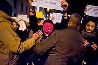 Roma  25 Novembre 2013<br /> Un gruppo di donne  al grido  &quot;siamo tutte Pussy Riot&quot;, ha contestato  il Presidente Vladimir Putin all'arrivo al Quirinale  <br /> Rome November 25, 2013<br /> A group of women shouting &quot;We are all Pussy Riot&quot;, challenged President Vladimir Putin's arrival at the Quirinale palace