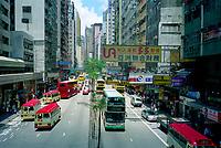 Hong Kong, China, 2005 file photo -<br /> double decker buses in Hong Kong