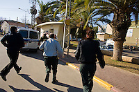 Sderot, Israel Jan 1, 2009.More than 7000 Palestinian rockets have hit the town in the last few years. Israelis in Sderot have just a few seconds to take refuge into a concrete bomb shelter when a Palestinian rocket launch has been detected.