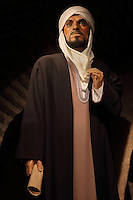 Model of Averroes, 1126-98, philosopher and theologian, from the Museo Vivo de Al-Andalus in the Torre Calahorra, Cordoba, Andalusia, Southern Spain. The historic centre of Cordoba is listed as a UNESCO World Heritage Site. Picture by Manuel Cohen