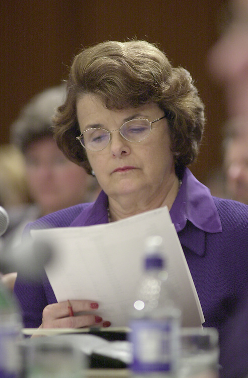 Feinstein D.2(DG) 051800 -- Dianne Feinstein, D-CA., during the Senate Appropriations Committee markup.