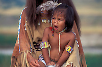 Native American kid, yawning, Artist Ride, South Dakota, USA