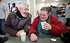 Crisis at Christmas, London, Great Britain <br /> 23rd December 2016 <br /> <br /> First day of operations at one of the Crisis centres in London.<br /> <br /> Crisis at Christmas is a lifeline for thousands of homeless people across the UK, offering support, companionship and vital services over the festive period.<br />  <br /> Crisis at Christmas provides immediate help for homeless people at a critical time - one in four homeless people spends Christmas alone - but our work does not end there. We encourage guests to take up the life-changing opportunities on offer all year round at our centres across the country. <br />  <br /> Crisis is the national charity for homeless people.<br /> <br /> Crisis reveals scale of violence and abuse against rough sleepers as charity opens its doors for Christmas<br /> <br /> People sleeping on the street are almost 17 times more likely to have been victims of violence and 15 times more likely to have suffered verbal abuse in the past year compared to the general public, according to new research from Crisis, the national charity for homeless people.<br />  <br /> <br /> Photograph by Elliott Franks <br /> Image licensed to Elliott Franks Photography Services