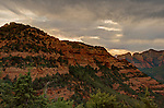 This image was taken on a cloudy afternoon from Schnebly Hill Road in Sedona, Arizona.