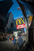 A McDonald's restaurant in Lower Manhattan in New York on Saturday, November 15, 2014. (© Richard B. Levine)