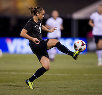 Ria Percival (2) of New Zealand controls the ball during an international friendly at Crew Stadium in Columbus, OH. The USWNT tied New Zealand, 1-1.