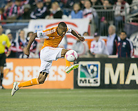 Houston Dynamo midfielder Ricardo Clark (13).  The New England Revolution played to a 1-1 draw against the Houston Dynamo during a Major League Soccer (MLS) match at Gillette Stadium in Foxborough, MA on September 28, 2013.