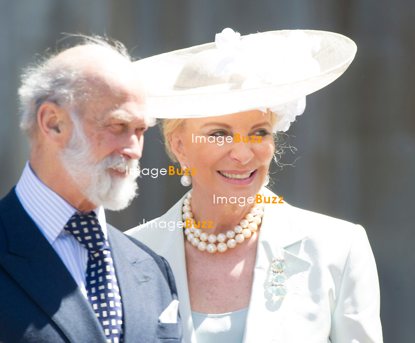 PRINCE AND PRINCESS MICHAEL OF KENT<br /> joined other members of the Royal Family for  A Service to Celebrate the Queen's 60th Anniversary of the Coronation Service at Westminster Abbey, London_04/06/2013<br /> Members of the Royal Family attending the Service included The Prince of Wales and The Duchess of Cornwall, The Duke and Duchess of Cambridge, Prince Henry of Wales, The Duke of York and Princesses Beatrice and Eugenie, The Earl and Countess of Wessex and The Lady Louise Mountbatten-Windsor, The Princess Royal, Vice Admiral Sir Tim Laurence, Peter Phillips and Autumn (Kelly) Phillips, Zara (Phillips) Tindall and Mike Tindall, The Duke and Duchess of Gloucester, The Duke and Duchess of Kent, Prince and Princess Michael of Kent