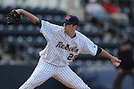 Ole Miss' Matt Tracy (29) pitches at Oxford University Stadium in Oxford, Miss. on Tuesday, February 22, 2011.