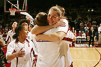 25 February 2006: Kristen Newlin during Stanford's 78-47 win over the Washington State Cougars at Maples Pavilion in Stanford, CA.