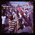 People march in protest against the United Nations on Wednesday, November 24, 2010 in Port-au-Prince, Haiti.