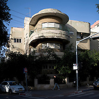 The Bauhaus style Mirenburg House at 65 Hovevei Zion Street. It was built in 1935 by architect Pinchas Hitt. Tel Aviv is known as the White City in reference to its collection of 4,000 Bauhaus style buildings, the largest number in any city in the world. In 2003 the Bauhaus neighbourhoods of Tel Aviv were placed on the UNESCO World Heritage List.