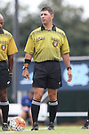 23 August 2015: Referee Carmen Serbio. The University of North Carolina Tar Heels played the Fresno State Bulldogs at Fetzer Field in Chapel Hill, NC in a 2015 NCAA Division I Women's Soccer game. UNC won the game 7-0.
