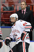 Ludwig Karlsson (Northeastern - 45), Mark Majewski (Northeastern - SID) - The visiting St. Francis Xavier University X-Men defeated the Northeastern University Huskies 8-5 on Sunday, October 2, 2011, at Matthews Arena in Boston, Massachusetts.
