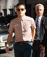 Rami Malek at the Late Show with Stephen Colbert