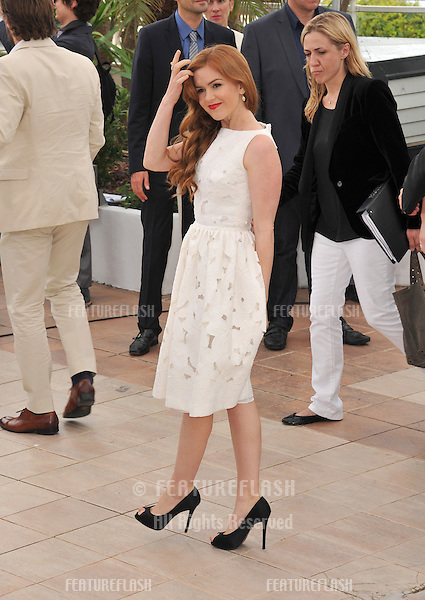"""Isla Fisher at the photocall for her movie """"The Great Gatsby"""" at the 66th Festival de Cannes..May 15, 2013  Cannes, France.Picture: Paul Smith / Featureflash"""