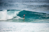 Pipeline, North Shore of Oahu, Hawaii Friday December 19 2014) Gabriel Medina (BRA) - The final stop of the 2014  World Championship Tour, the Billabong Pipe Masters in Memory of Andy Irons, was  ccompleted today in NW double overhead surf. <br /> Gabriel Medina (BRA) became the first ever Brazilian World Champion after both rival contenders , Kelly Slater (USA) and Mick Fanning (AUS) were eliminated from the contest. Medina went onto finish 2nd overall behind Julian Wilson (AUS). <br /> In the overlapping heat format Wilson surf three consequent heats and still had enough entry to take out the 30 minute final.<br /> By winning the final Wilson also won the covered Vans Triple Crown of Surfing for best overall performance through the whole Triple Crown.<br /> <br /> The Billabong Pipe Masters in Memory of Andy Irons will determine this year&rsquo;s world surfing champion as well as those who qualify for the elite tour in 2015. As the third and final stop on the Vans Triple Crown of Surfing Series  the event will also determine the winner of the revered three-event leg.<br /> <br />  Photo: joliphotos.com
