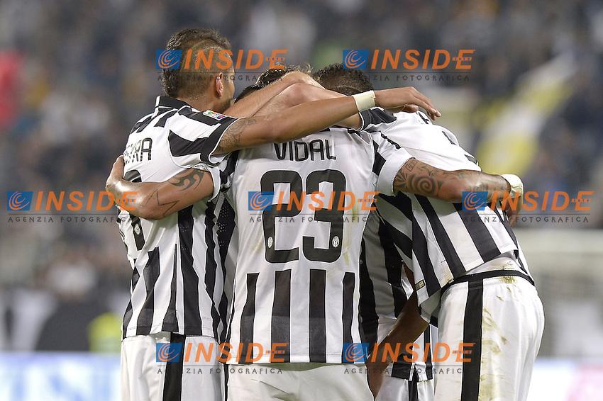 Esultanza di Arturo Vidal Juventus dopo gol, goal celebration,<br /> Torino 24-09-2014, Juventus Stadium, Football Calcio 2014/2015 Serie A, Juventus-Cesena, Foto Filippo Alfero/Insidefoto