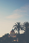The Sun sets over the Hotel Negresco in Nice, France.