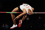 Jaime Nieto jumps their men's high jump of the U.S open track & Field in the madison Square Garden in New York, United States. 28/01/2012. Photo by Kena Betancur / VIEWpress...