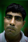 Jasmer Singh, one of the member of the Indian Kabbadi team poses for a portrait at a month long camp in Sport Authority of India Sports Complex in Bisankhedi, outskirts of Bhopal, Madhya Pradesh, India.