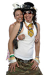CARSON,CA - AUGUST 19,2009: Kim Manning,30 and Lantz Lazwell,26, of the band P-Funk All-Stars after their performance at The Vans Warped Tour August 23, 2009.